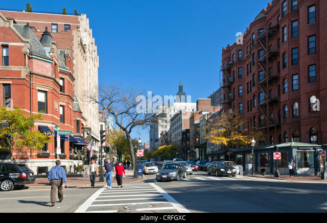 Newbury Street, Boston, Massachusetts, USA - Stock Image