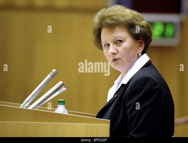 Moldovan Prime Minister Zinaida Greceanii - Stock Image
