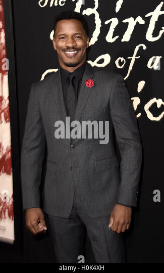 Los Angeles, California, USA. 21st September, 2016. Director/Screenwriter/Actor Nate Parker arrives at the Los Angeles - Stock-Bilder