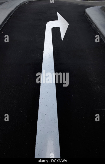 Road Markings Arrows Stock Photos & Road Markings Arrows ...
