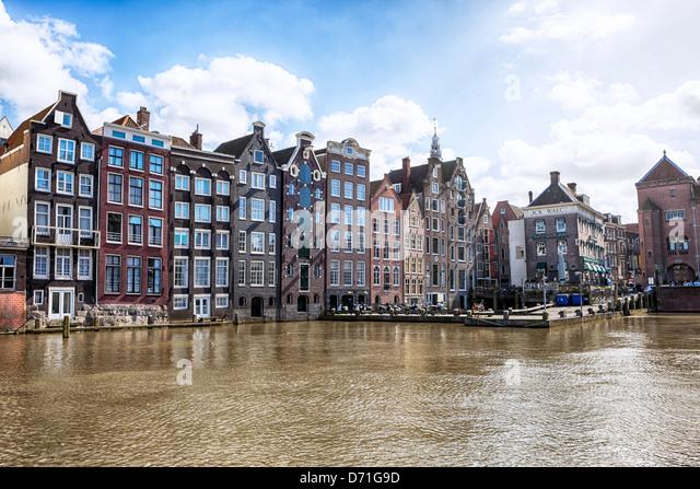 Damrak, Amsterdam, North Holland, Netherlands - Stock Image