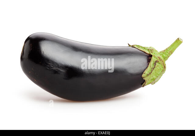 eggplant isolated - Stock Image
