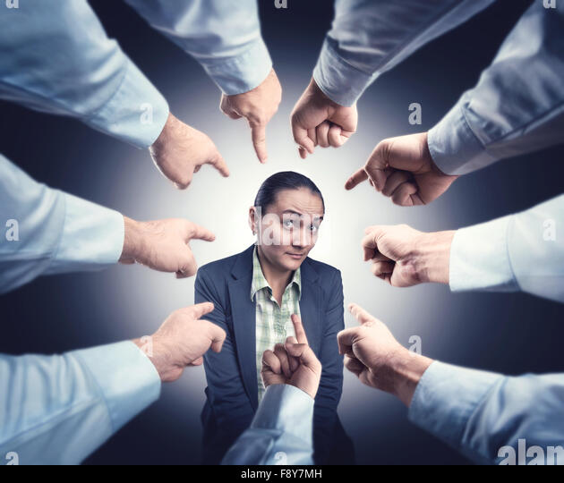 Shy businesswoman - Stock Image
