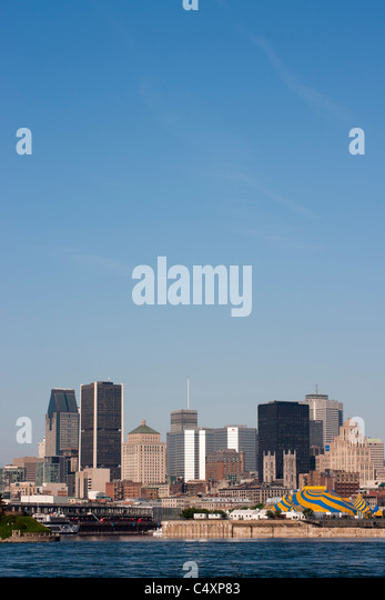 Montreal skyline - Stock Image