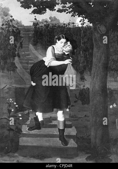 Couple in the 19th Century - Stock-Bilder