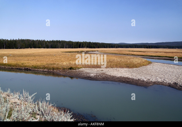 View across Pelican Valley near Yellowstone Lake - Stock Image