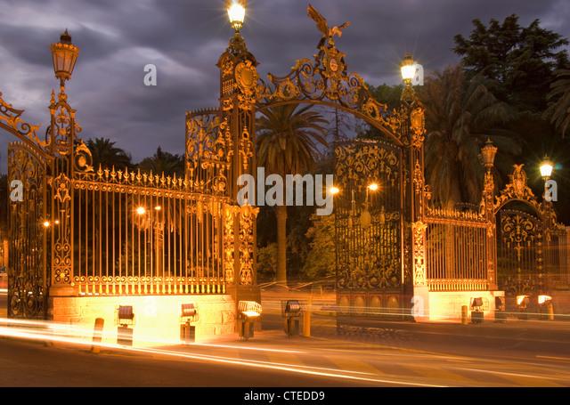 Gates Of Parque San Martin; Mendoza, Argentina - Stock Image