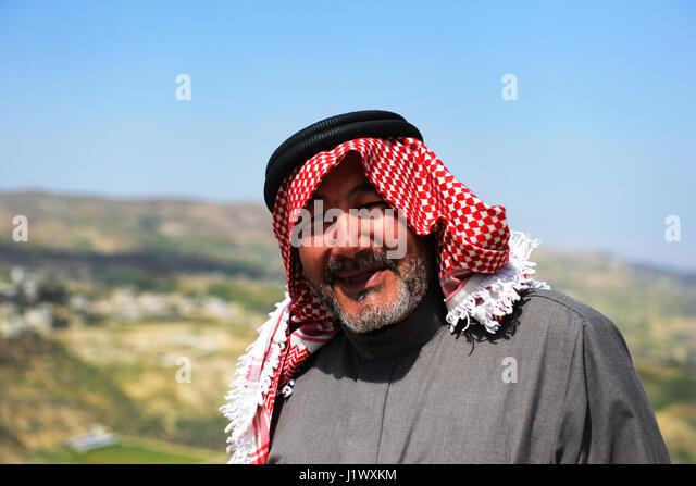 Portrait of a smiling Jordanian man. - Stock Image
