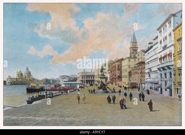 Venice Riva Schiavoni - Stock Image