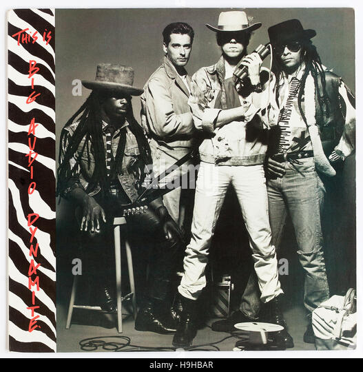 The cover of 'This Is Big Audio Dynamite', 1985 album by Big Audio Dynamite on Colombia - Stock Image