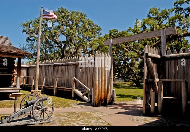 Orlando Florida Fort Christmas seminole indian war recreation - Stock Image
