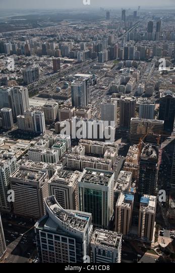 Abu Dhabi UAE United arab emirates skyline - Stock Image