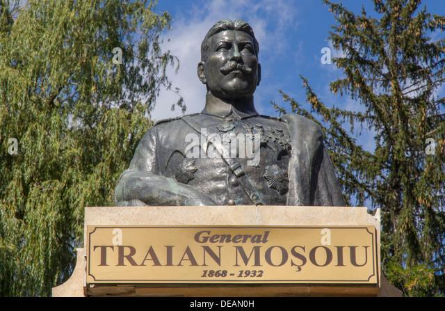 Romania Transylvania, Bran, Traian Mosoiu statue - Stock Image
