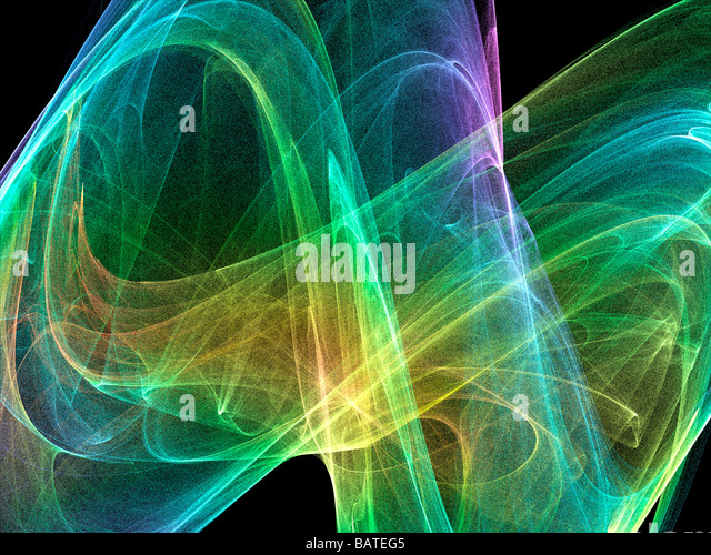 Strange attractor, computer artwork. - Stock Image