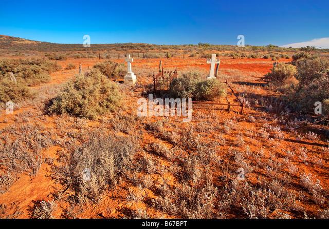 Gawler Ranges Graveyard - Stock Image