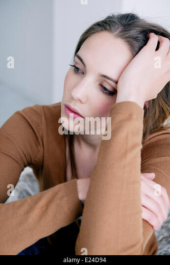 Woman indoors - Stock Image