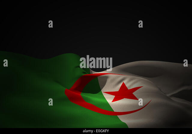 Algeria flag waving - Stock Image