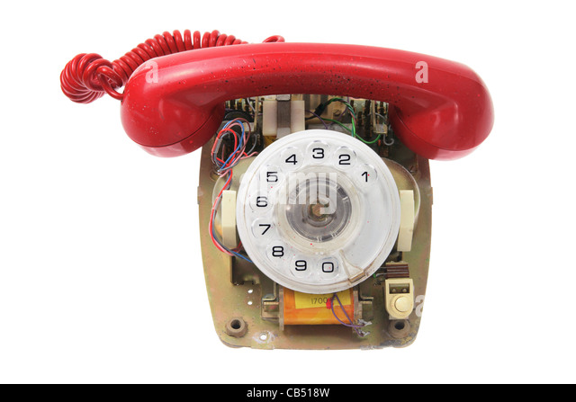 Old Dial Phone - Stock Image