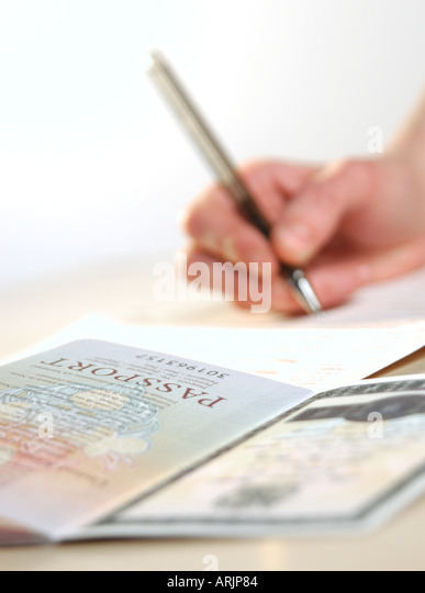 Passport Application Form Stock Photos Amp Passport