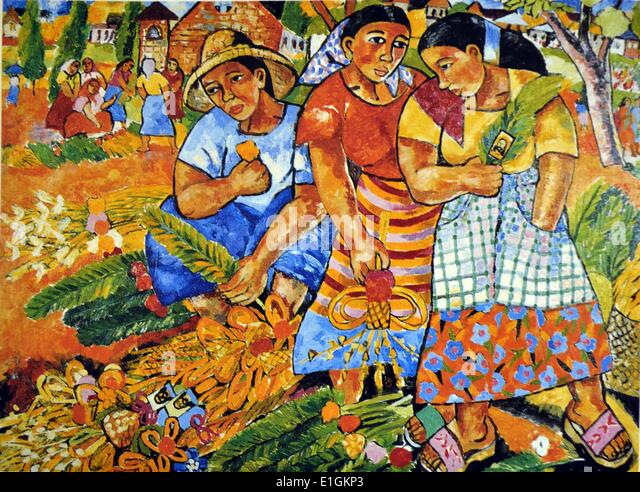 Norma Belleza, Palaspas, 1992. Oil on canvas. - Stock Image