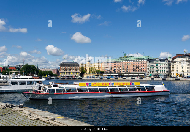 A tour boat in Stockholm, Sweden - Stock Image