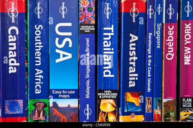 A Collection of Travel Guides - Stock-Bilder