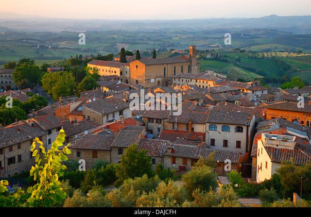 San Gimignano, Sant'Agostino church, Italy - Stock Image