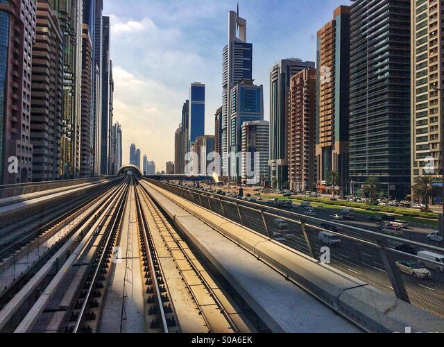 Dubai buildings - Stock Image