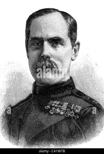 Methuen, Paul, 3rd Baron Methuen, 1.9.1845 - 30.10.1932, British general, portrait, wood engraving, 1900,   nobility, - Stock Image
