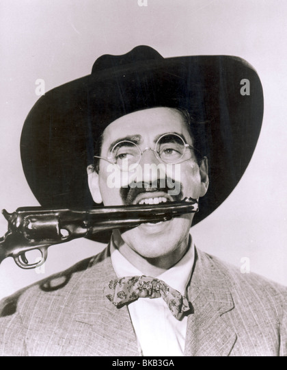 GO WEST -1940 GROUCHO - Stock Image