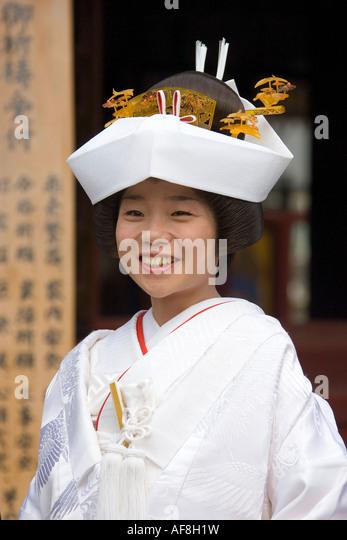 Asia, Japan, Tokyo, Asakusa Temple, wedding - Stock-Bilder