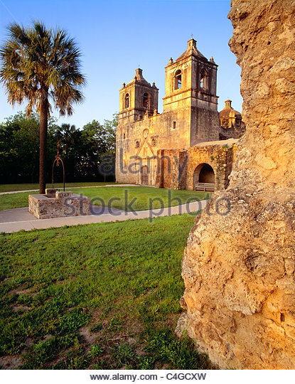 [Mission Concepcion] [San Antonio Missions National Historical Park]  Texas - Stock Image