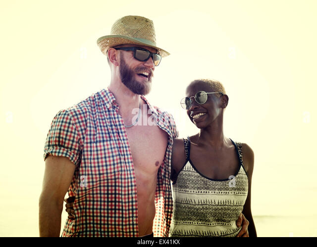 Sweet Beach Summer Holiday Couple Love Concept - Stock-Bilder