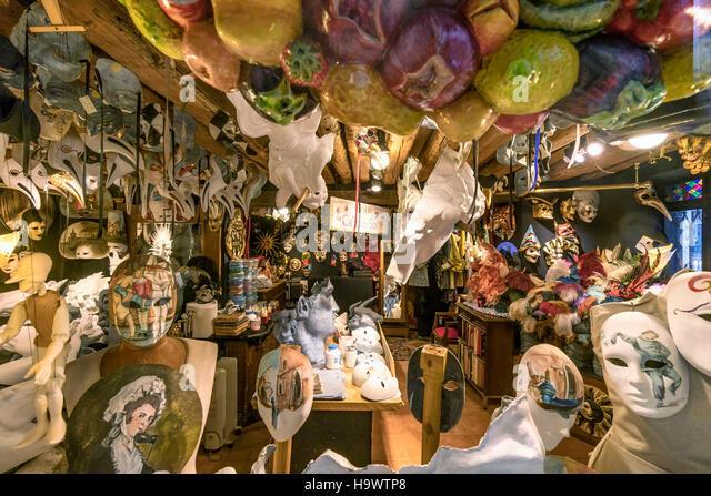Venetian masks factory, Ca del Sol,  Venezia, Venice, Venedig, Italia, Europe, - Stock Image