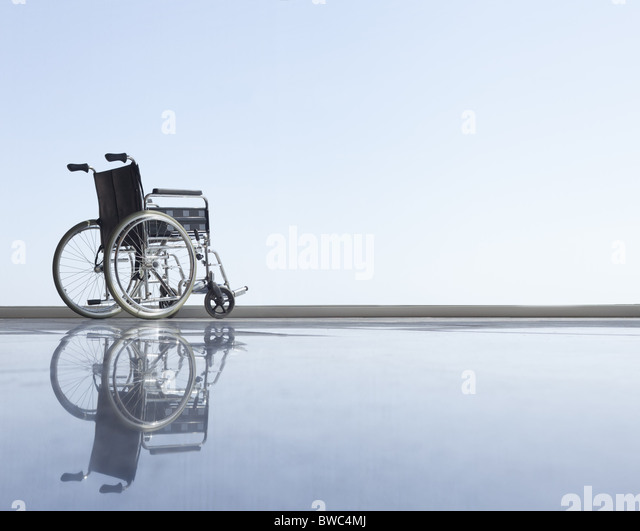 Wheel chair with horizon - Stock Image