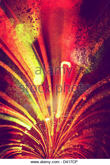 light streaks on textured background - Stock Image