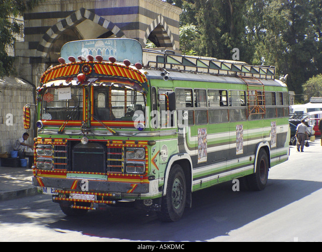 Bus in damascus - Stock Image