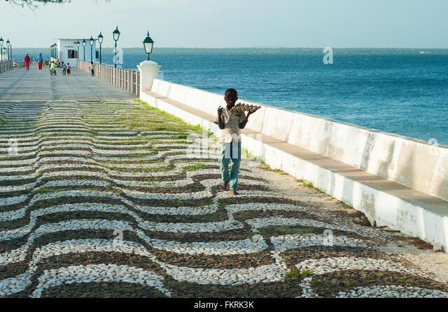 Main pier, Ilha de Mozambique, Nampula, Mozambique - Stock Image