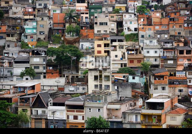 Brazil, Sao Paulo, Favela - Stock-Bilder