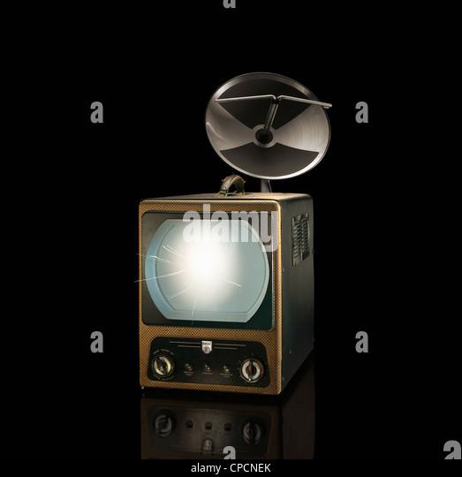 Movie projector with satellite - Stock-Bilder