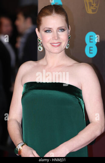 LONDON - FEB 12, 2017:  Amy Adams attends The EE British Academy Film Awards (BAFTA) at the Royal Albert Hall on - Stock-Bilder