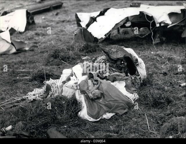 Aug. 12, 1955 - Scene of Accident of the Catastrophe of Freudenstadt. - Stock Image