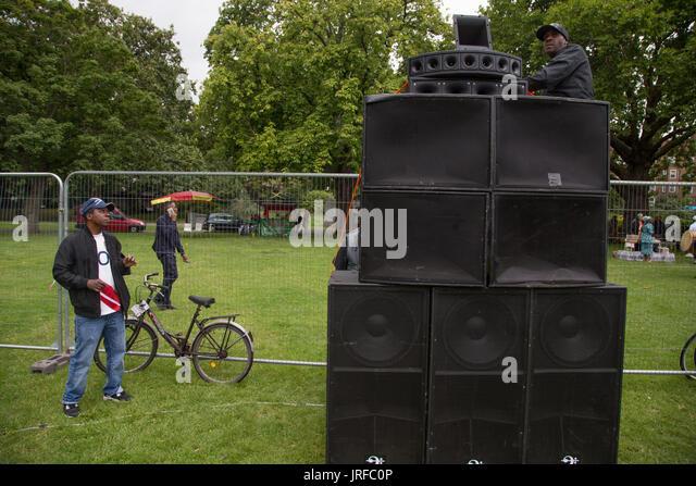 London UK 5th August 2017  The Rastafari Movement UK clebrate Africa international day of action in Kennington Park - Stock Image