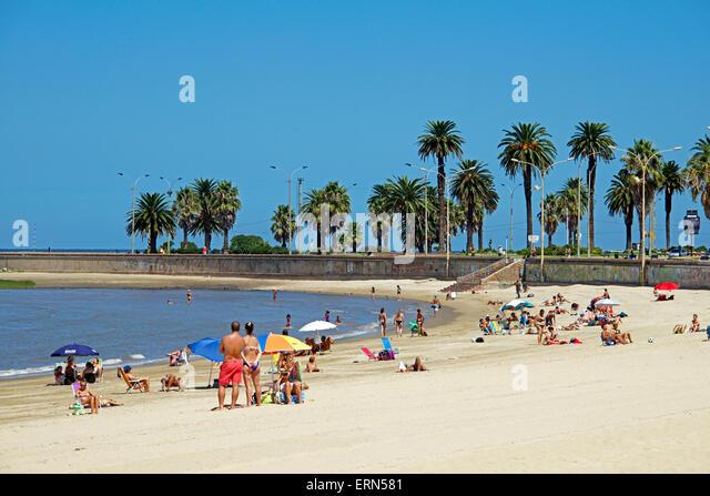 Playa de los Pocitos Montevideo Uruguay - Stock Image
