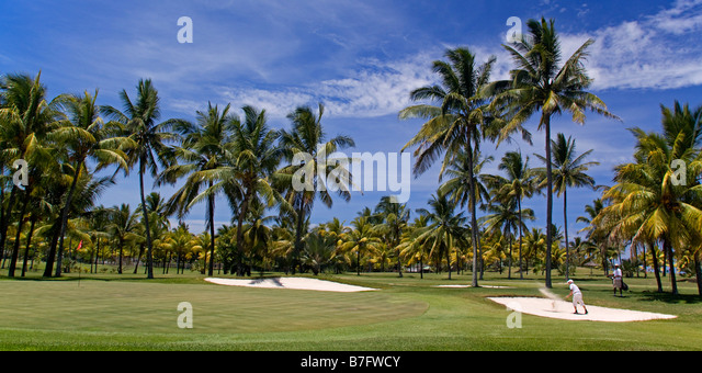 Golf Course in Belle Mare Flacq Mauritius Africa - Stock Image