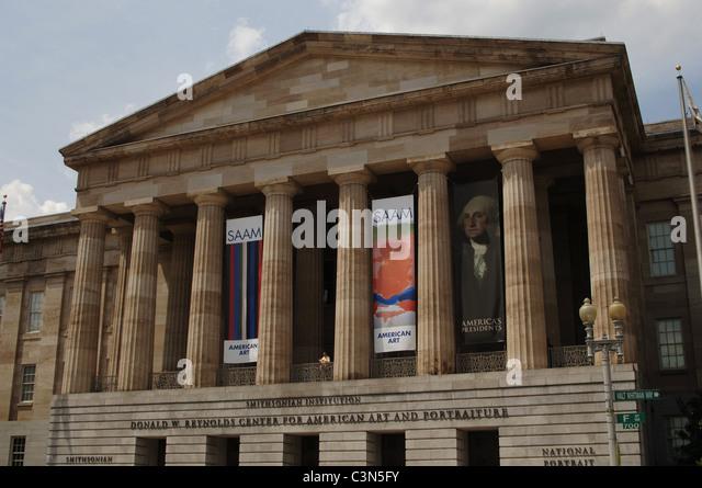 National Portrait Gallery. Exterior. Washington D.C. United States. - Stock Image