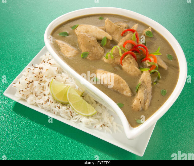THAI GREEN CURRY MEAL - Stock Image