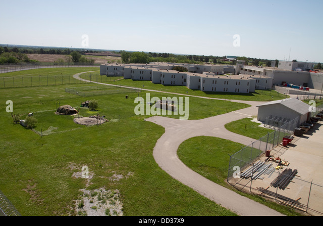 View from Tower Two, overlooking the religious lands. Lincoln Correctional Center, Lincoln, Nebraska. - Stock Image
