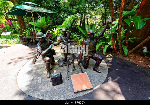 Singapore battle of Bukit Chandu against Japanese WWII - Stock Image