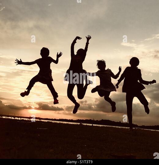 happy kids - Stock Image
